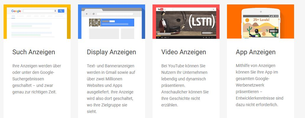 Informationen zu AdWords